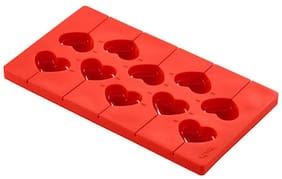 LEKUE MOULD POP HEARTS, RED