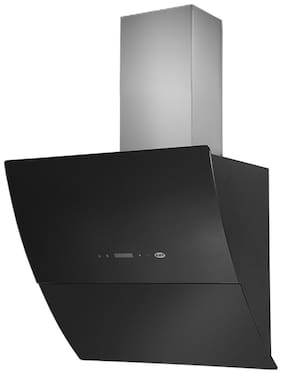Kaff Wall Mounted Auto Clean 60 cm 1180 m3/h Silver Chimney ( Leon 60 Cm Black )