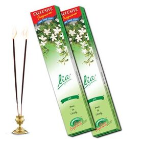 Cycle Pure Agarbathies Lia 2 Packs Jas Incense Sticks 280 Grams each with Jasmine fragrances