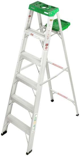 Liberti Aluminium 5 Steps Ladder ( Grey , Front Step )