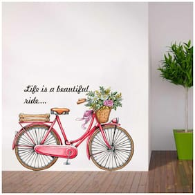 Rawpockets Wall Stickers  ' Life is a beautiful ride '