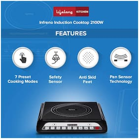 Lifelong INFERNO LLIC30 2000 W Induction Cooktop ( Black , Touch Panel Control)
