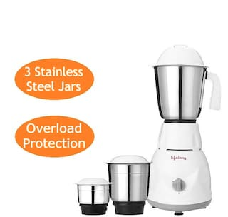 Lifelong POWER PRO 500 W Mixer Grinder ( White , 3 Jars )
