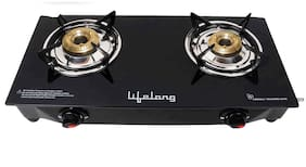 Lifelong 2 Burner Hobs Black Gas Stove