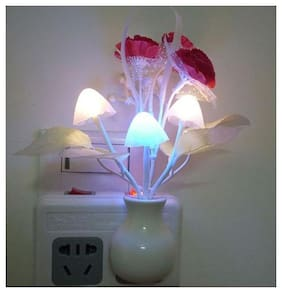 Light Sensing Color Changing Mushroom Night Lamp (1pc,)
