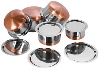 LIMETRO STEEL Cooking Utensils ( Steel  , Set of 5 )