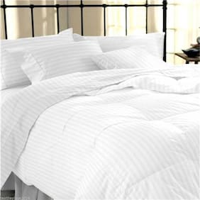 Linenwalas Classic 5 Star Hotel Duvet With Premium Cotton Stripes Duvet Cover- 90 X 100