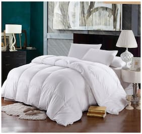 Linenwalas Imported Goose Down and Feather Duvet for Extreme Cold Winters Of Mountains -Single Size-60 X 90- White