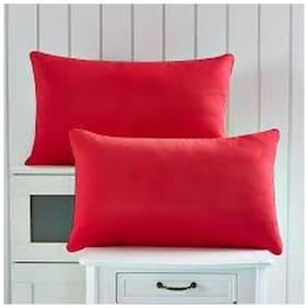 Linenwalas Waterproof and Dustproof Pillow Protectors Set of 2 Pcs- Standard Size(17X27)- Maroon