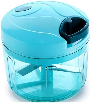 Lion Lender Exclusive New Jumbo Handy Chopper,Fruit Chopper,Vegetable Cutter,Chilly Cutter,Tomato Cutter Chopper with 3 Stainless Steel Blade System (750 ml,Blue)