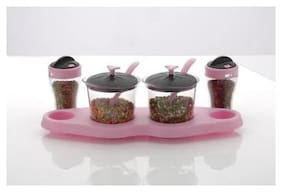 LION LENDER Executive 2x2 Spice and Pickle Stand,Dry Fruit Stand,Mouth Freshers Stand,Achar Masala Stand(Pink)