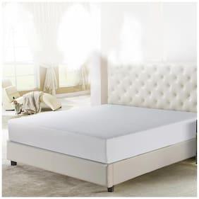Lithara Breathable Waterproof & Dustproof Premium White Terry Luxury Mattress Protector (30X72)