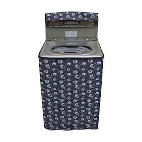 Lithara Floral Grey Coloured Waterproof & Dustproof Washing Machine Cover For Samsung WA75K4400HA Fully Automatic Top Load 7.5 kg washing machine