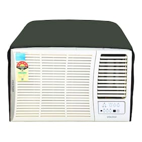 Lithara green waterproof and dustproof window ac cover for Onida W182TRD Trendy Plus AC 1.5 Ton 2 Star Rating