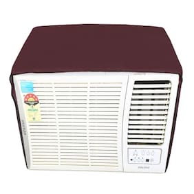 Lithara Maroon waterproof and dustproof window ac cover for O General AXGT18AATH-1.5 AC 1.5 Ton 2 Star Rating