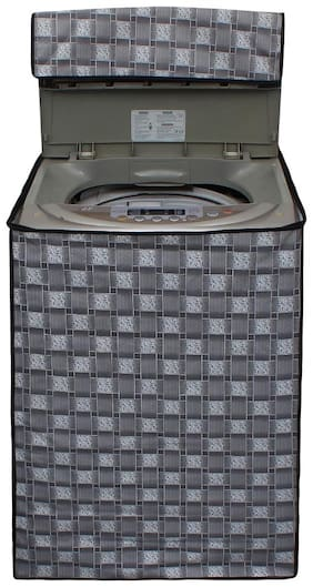 Lithara Silver Printed Covers for Whirlpool Whitemagic Premier 6.5Kg Fully Automatic Top Loading Washing Machine