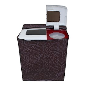 Lithara Washing Machine Cover for Whirlpool 7 kg Semi-Automatic Top Loading Superb Atom 70S Color Brown
