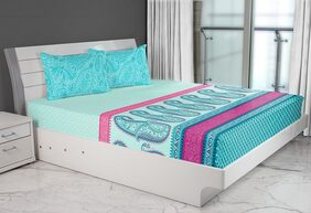 Emilia Double Bedsheet Set Turq by HomeTown