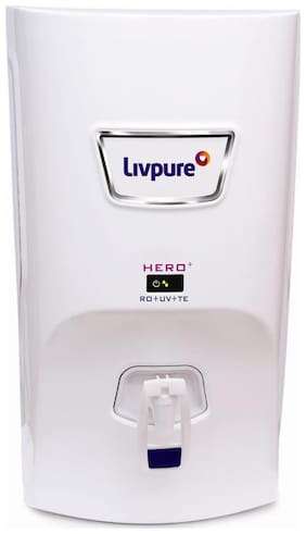 Livpure Hero Plus 7 L RO+UV+Taste Enhancer (White)