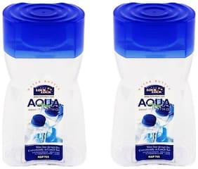 Lock & Lock 400 ml Plastic Transparent Water Bottles - Set of 2