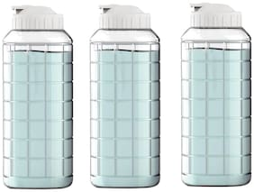 Lock & Lock Plastic Transparent Water Bottle ( 1000 ml , Set of 3 )