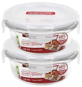 Lock & Lock Euro Bakeware Glass 130 ML (Set of 2)