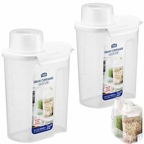 Lock & Lock 2400 ml White Plastic Container Set - Set of 2