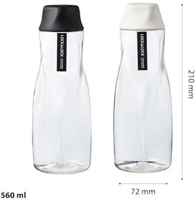 Lock & Lock Ice Berg Water Bottle 560ML Black & White (Set of 2)