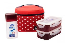 Lock&Lock Lunch Box set with Red Polka Bag