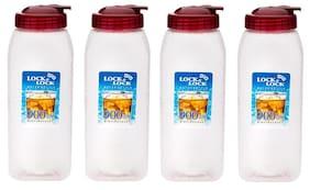 Lock & Lock 900 ml Plastic Transparent Water bottles - Set of 4