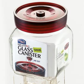 Lock & Lock Square Glass Canister-900ML