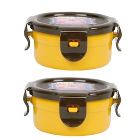 Lock & Lock Yellow Food Container (1 PC)