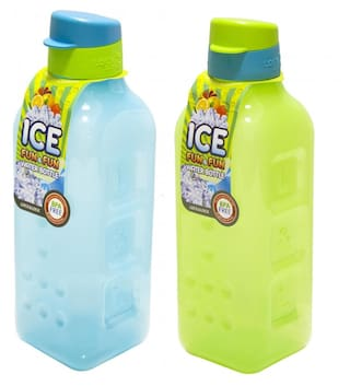 Lockandlock Ice Fun And Fun Fridge Bottle  1000 ML  Green Blue (Set of 2)