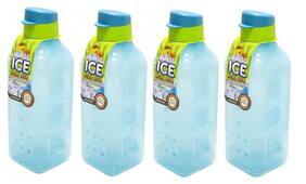 Lock & Lock 1000 ml Plastic Blue Fridge bottles - Set of 4