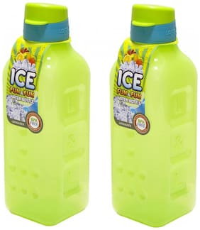 Lock & Lock Plastic Green Water Bottle ( 1000 ml , Set of 2 )