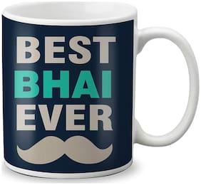 LOF Bhaidooj Special Gift For Brothers (Best Bhai Ever) Printed Mug 325ml