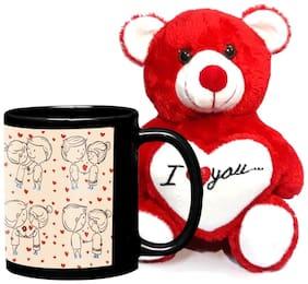 LOF Birthday Gift For Wife;Gift For Husband;Love Teddy Gift Coffe Mug combo011