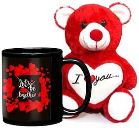 LOF Birthday Gift For Wife;Gift For Husband;Love Teddy Gift Coffe Mug combo022