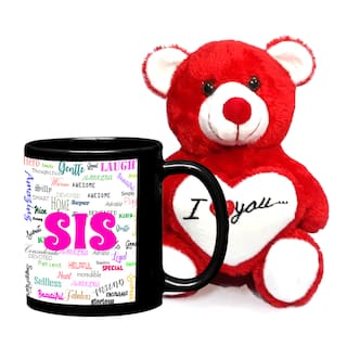 LOF Birthday Gift For SisGift Sister Small Sis Best Teddy And