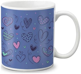 LOF Happy 1st First Valentine's Day Gift For Love My Life Special Girlfriend;Boyfriend;Wife;Husband Cute and Beautiful Best Love Qutation Mug 028