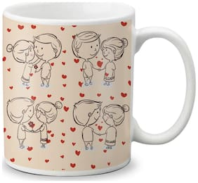 LOF Happy 1st First Valentine's Day Gift For Love My Life Special Girlfriend;Boyfriend;Wife;Husband Cute and Beautiful Best Love Qutation Mug 019