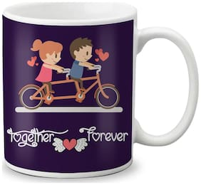 LOF Happy 1st First Valentine's Day Gift For Love My Life Special Girlfriend;Boyfriend;Wife;Husband Cute and Beautiful Best Love Qutation Mug 040