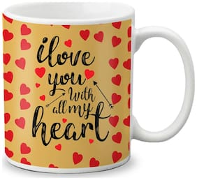LOF Happy 1st First Valentine's Day Gift For Love My Life Special Girlfriend;Boyfriend;Wife;Husband Cute and Beautiful Best Love Qutation Mug 023
