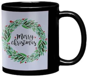 LOF Merry Christmas and New Year Wishing Gift For Girls Boys Friends Black Coffee Mug
