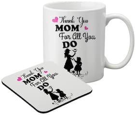 LOF Mom & DAD Gift For Mother's Day;Father's Day;Beautiful Gift For Mummy Printed Coaster Set Mug024