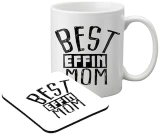 LOF Mom & DAD Gift For Mother's Day;Father's Day;Beautiful Gift For Mummy Printed Coaster Set Mug018