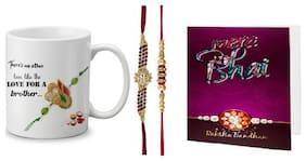 LOF Rakshabandhan Special Gift For Brothers Printed Mug 325ml
