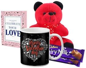 Lof Valentine Gift Set (Coffee Mug;Teddy;2 Choco & Cupid Blessing Card)-11