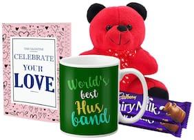 Lof Valentine Gift Set (Coffee Mug;Teddy;2 Choco & Cupid Blessing Card)-72
