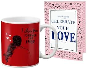 Lof Valentine Gift Set (Coffee Mug & Cupid Blessing Card)-2